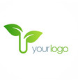 leaf organic logo vector image vector image