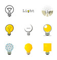 light bulb icons set cartoon style vector image vector image