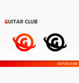 logo for community of guitarists vector image
