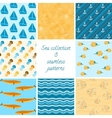 Marine patterns collection 2 vector image vector image