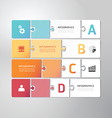 Modern Design Minimal jigsaw style infographic vector image vector image