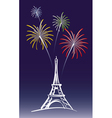 New Year in Paris vector image vector image