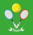 racket and ball to tennis game competition vector image vector image