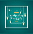 ramadan kareem concept banner with islamic vector image vector image