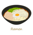 ramen icon cartoon style vector image