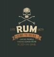 retro banner on theme good rum vector image