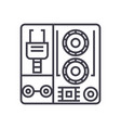 robot industrial kits line icon sign vector image