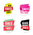 sale banner with different model vector image