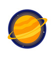 saturn icon vector image vector image