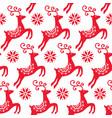 scandinavian folk art christmas pattern vector image vector image