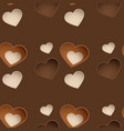 seamless chocolate pattern with sweetmeat in form vector image vector image