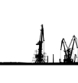 Seaport Silhouette vector image