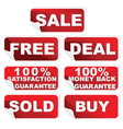 shopping stickers set vector image vector image
