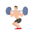 Sportsman barbell vector image vector image
