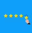 star rate for customer review and feedback vector image vector image