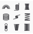 steel wire flexible spiral coils spring vector image vector image