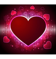 stylish glowing heart background vector image vector image