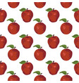 summer pattern with apples seamless texture design vector image vector image