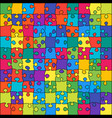 the 100 color outline jigsaw puzzle of banner vector image vector image