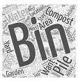 The Best Place for your Composting Bin Word Cloud