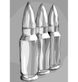 three bullets in the row vector image vector image