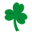 three-leafed clover on st patrick s day vector image