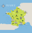 touristic map of france travel gastronomic vector image vector image