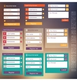 user interface elements sets of login and vector image