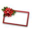 white christmas background with red bow vector image vector image