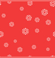 white snowflakes on a red background seamless vector image vector image
