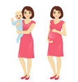 young mother set vector image vector image