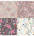 Flower and Butterfly seamless Pattern vector image