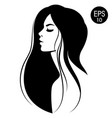 woman with black hair fashion vector image
