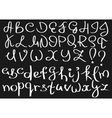 Unusual curved english alphabet vector image