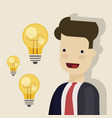 businessman or manager close-up concept of a new vector image