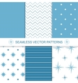 Set of sea and nautical backgrounds in blue and vector image