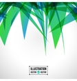 abstract background of green fragments vector image vector image