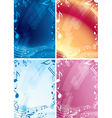 abstract music backgrounds - set of frames vector image vector image