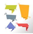 abstract speech bubble set design vector image vector image