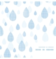 Abstract textile blue rain drops corner frame vector image vector image