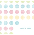 Abstract textile polka dots stripes frame corner vector image vector image