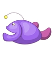 Angler fish icon cartoon style vector image