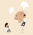 Angry Boss is shouting to his employee vector image