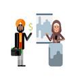 arabic woman doing business presentation vector image vector image
