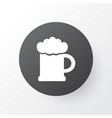 beer icon symbol premium quality isolated ale mug vector image