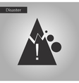 black and white style icon Mountain stones fall vector image vector image