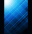 blue abstract grid shape background corporated vector image vector image
