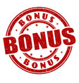 bonus sign or stamp vector image vector image