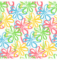 bright pattern with color chamomile flowers vector image