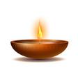 burning diya on happy diwali holiday isolated on vector image vector image